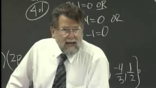 Lecture 30: Beginning Algebra (Math 70)