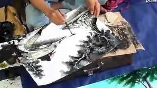 Video Unbelievable Chinese Street Painter!!   Super fast drawing and amazing works! MP3, 3GP, MP4, WEBM, AVI, FLV Agustus 2018