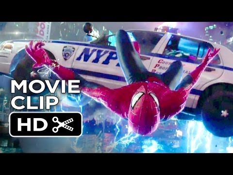 The Amazing Spider-Man 2 Movie CLIP - Times Square Slow Motion Save (2014) - Movie HD (видео)