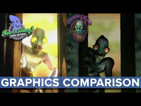 tasty - Oddworld: New 'n' Tasty - Graphics Comparison - Eurogamer See the opening cutscene and a small portion of gameplay from Oddworld: New 'n' Tasty, side by side with the original Lorne Lanning...