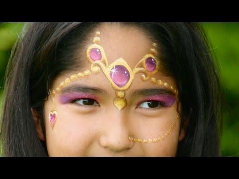 Maquillage de Princesse orientale / Princesse des 1001 nuits - Tutoriel maquillage des enfants