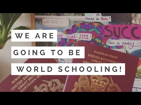 WE ARE GOING TO WORLD SCHOOL! | Home Education (видео)