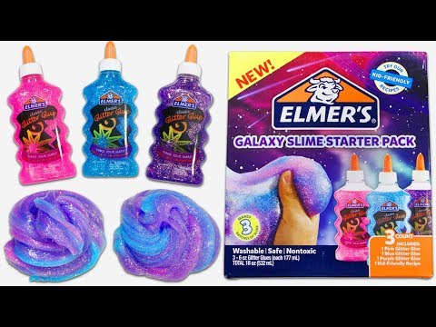 Elmer's Galaxy Slime Starter Pack | Testing Out Slime Kits #2!