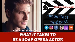 http://hecklerkane.com/2017/06/takes-soap-opera-actor-general-hospitals-dillon-quartermaineToday's guest on the Imperfect Podcast is Robert Palmer Watkins who plays Dillon Quartermaine on NBC's daytime series General Hospital. We talked to him about everything from his struggles as an actor to how landing the role on General Hospital changed his life. I think Robert is a really humble guy. His roots are on the east coast from the Carolinas and it just seems like he's really dedicated to the work. He really understands what the fans want and what the commitment is to being a daytime actor on a soap opera like General Hospital. He appreciates everything from the struggles he's had and doesn't take it for granted. It was interesting to talk to somebody about soap operas because honestly we weren't fans but watching his work and watching how it's done you can see how people are literally addicted to soap operas. They've been around for decades. There's only 4 left, General Hospital being one of them. The character that he's playing and the shoes he has to fill is no joke. We also talk a lot about the pressures he faced in taking on this role. Hope you enjoy the podcast and learn more about what it takes to be a soap opera actor. Keep up with Robert Palmer Watkins on his website http://robertpalmerwatkins.comFind more episodes of the Imperfect Podcast at http://hecklerkane.com and sign up to be an Imperfect Podcast Insider.