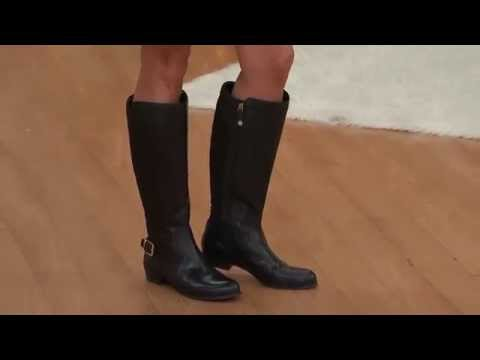 Isaac Mizrahi Live! Leather Riding Boots - Wide Calf with Jayne Brown