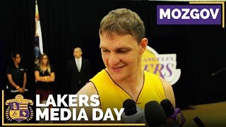 Lakers Media Day 2016: Timofey Mozgov & Goal Of Reaching NBA Playoffs by Lakers Nation