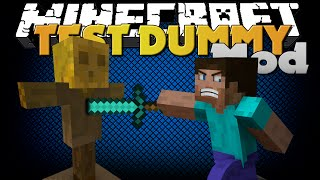 Minecraft Mod - TEST DUMMY MOD - TEST WEAPON STRENGTH