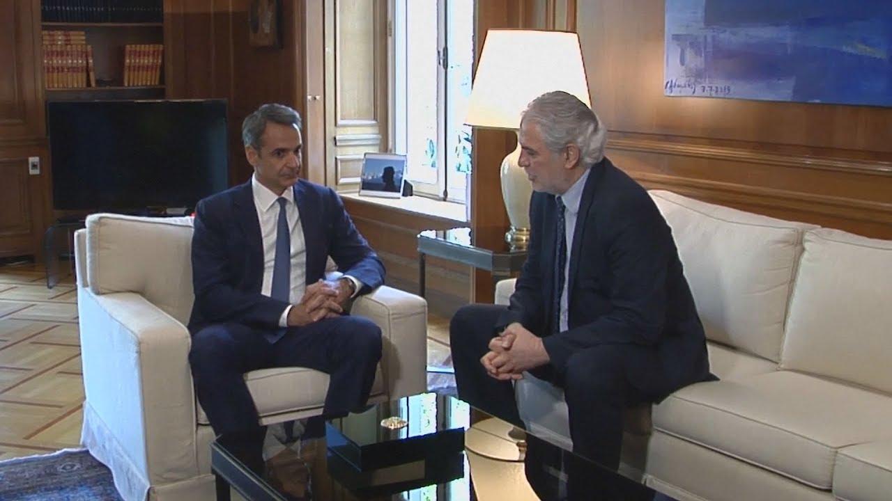 Συνάντηση του Ευρωπαίου επιτρόπου Χρ. Στυλιανίδη με τον Πρωθυπουργό