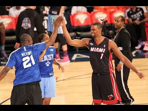 Bosh - All-Star 2014 Highlights: http://www.nba.com/allstar/2014/video/ Chris Bosh, Dominique Wilkins and Swin Cash shoot their way to the 2014 Sears All-Star Satur...