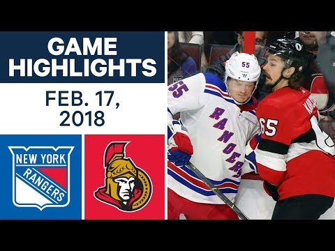 Video: NHL Game Highlights | Rangers vs. Senators - Feb. 17, 2018