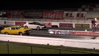 Switzer Nissan GT-R / GTR R900 Vs Chevelle SS Big Block - Drag Race Video 9.84 @ 143 - Road Test TV