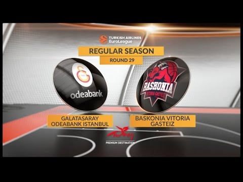 EuroLeague Highlights RS Round 29: Galatasaray Odeabank Istanbul 80-103 Baskonia Vitoria Gasteiz