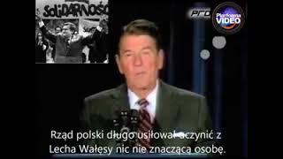 Ronald Regan o wielkim Polaku – Lechu Wałęsie.