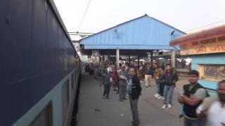 Panipat India  city pictures gallery : Indian Railways departing Panipat Junction.