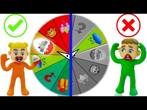 SUPERHERO BABY MYSTERY WHEEL OF FORTUNE 💖 Play Doh Cartoons Stop Motion