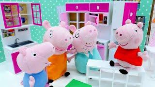 Novos móveis para a família Peppa Pig. Peppa Pig Português Brasil. Vídeos educativos.