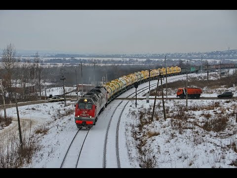2ТЭ25КМ-0188 с грузовым поездом перегон Плеханово - Тула-III