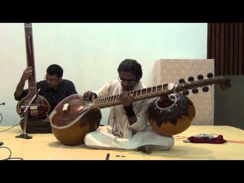Dhrupad on Chandra Veena by Bala Chander - Raga Bhoopali (Jod) - Part 2