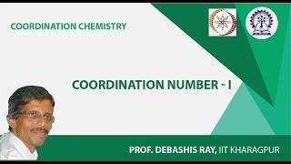 Mod-01 Lec-07 Coordination Number - I