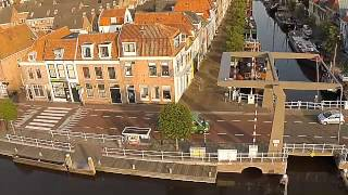 Alkmaar Netherlands  city photo : Droneflight over old boats in beautiful Alkmaar (Netherlands
