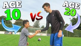 Video 10 YEAR OLD VS 20 YEAR OLD EPIC CROSSBAR CHALLENGE (NEXT RONALDO?) MP3, 3GP, MP4, WEBM, AVI, FLV Desember 2018