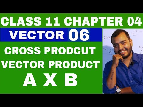 Class 11 Chapter 4  : Vector 06 Vector Product || Cross Product Of Vectors || Iit Jee / Neet Vectors