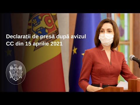 Declarațiile Președintelui Republicii Moldova, Maia Sandu, după avizul CC de constatare a circumstanțelor de dizolvare a Parlamentului