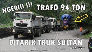 Download Video AUTO VIRAL !!! 3 UNIT TRUK MAN TARIK TRAFO 94 TON NANJAK SITINJAU LAUIK MP3 3GP MP4