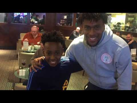 MEETING ALEX IWOBI,VICTOR MOSES,KELECHI IHEANACHO & WILFRED NDIDI AHEAD OF THE WORLD CUP. (Pictures)