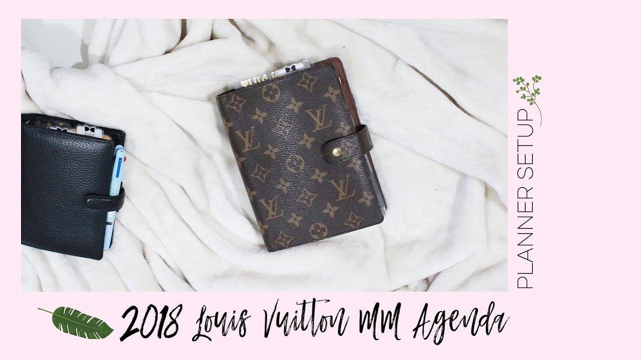 2018 Louis Vuitton Agenda MM (Medium) Setup