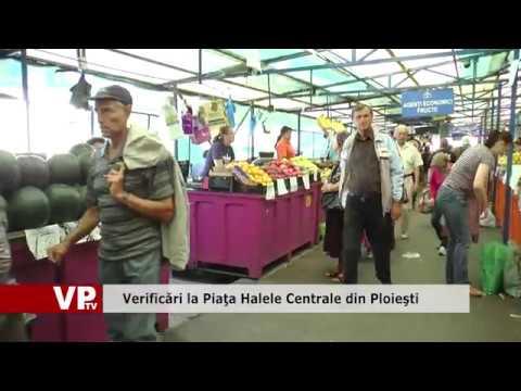 Control în Piaţa Halelor din Ploieşti