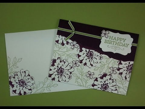 Quick and Easy Birthday Card using Stampin' Up! products!