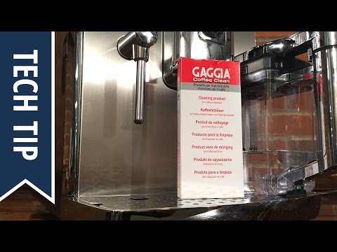 How To Clean Gaggia Accademia Brew Group with Tablets