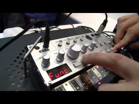 korg - MESSE13: Korg Volca Grooveboxes Vide0 Drums, B-line and analog poly - yes poly.