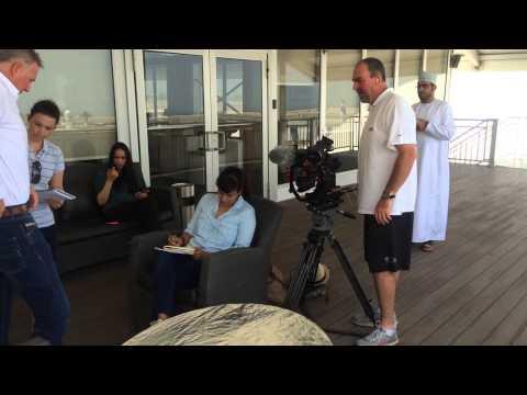Oman Sail hosted the CNN 'Silk Road' film crew on Monday.