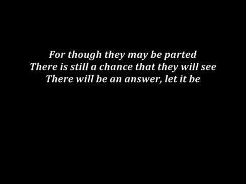 The Beatles - Let It Be (Alex Goot's cover - lyrics)