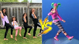 Kids FORTNITE DANCE CHALLENGE IN REAL LIFE with HZHtube kids fun
