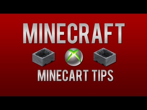 Xbox 360 Minecraft Tips and Tricks  | Minecart Tips: Rail Boosting | How to Build a Fast Rail