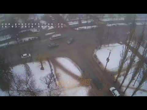 ДТП (авария г. Волжский) ул. Советская ул. Энгельса 16-03-2018 08-06
