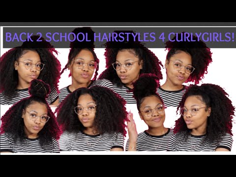 Curly hairstyles - BACK TO SCHOOL HAIRSTYLES FOR CURLY HAIR  Natural Hair
