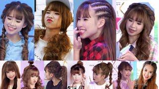 Hairstyles - Tổng Hợp Cách Làm Các Kiểu Tóc Siêu Cute Của Ca Sĩ Khởi My, Khởi My, Khởi My 2015, Khởi My và huy khánh