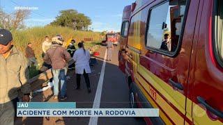 Mulher morre e três pessoas ficam feridas em acidente na rodovia que liga Jaú-Bariri