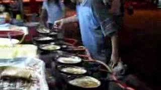 Sibu Malaysia  City new picture : Sibu Malaysia Vacation Night Market making peanut crepes Sarawak