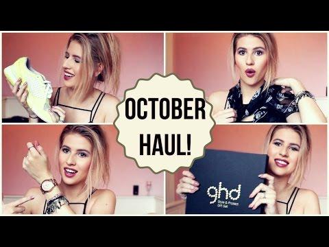 HUGE OCTOBER HAUL! (Topshop, ghd, Tarte, Alexander McQueen and more!) видео