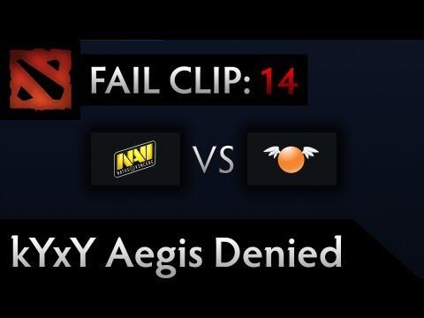Dota 2 TI3 Fail – Clip 14 – kYxY Aegis Denied