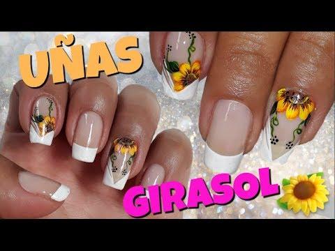 Decoracion de uñas - Decoración de uñas Girasol/Diseño de uñas Girasol/Uñas Girasol