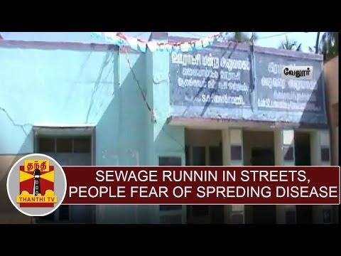 Sewage-running-down-streets-at-Vaniyambadi-People-fear-of-spreading-diseases-Thanthi-TV