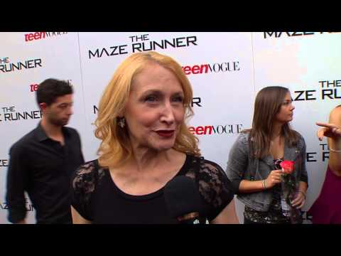 "The Maze Runner: Patricia Clarkson ""Ava Paige"" Premiere Movie Interview"