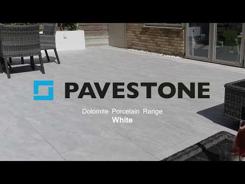Video of 1000mm x 500mm Dolomite White Porcelain Paving 32 Pieces