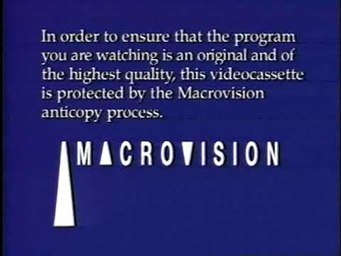 1991 - Copy Protection Warning on VHS Tapes